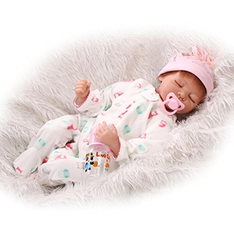 Nicery 生まれ変わった赤ちゃん人形ソフトシミュレーションシリコンビニール22インチ55cm磁気口生きているような少年少女おもちゃギフト Reborn Baby Doll RD55C099C