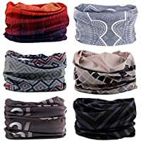 Zupoo 1/4/6PCS 16-in-1 Multifunctional Headband Sports Magic Scarf,Face Sun Mask,Neck Gaiter,Balaclava Headwear,Bandana,for Hiking, Running,Cycling,Yoga,Fishing,Hunting,Skiing