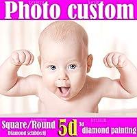 5D DIY写真 カスタムダイヤモンド刺繍 DIYダイヤモンド絵画 フルスクエア DIYダイヤモンド絵画 カスタムモザイク絵画壁装飾 120X90CM