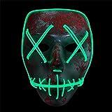 TeFuAnAn 光る 仮面 マスク コスチューム用小物 仮装  ハロウィン仮面 コスプレマスク 映画マスク仮装 変装グッズ パーティー イースター コスプレ小物 小道具 仮装大会 記念日 学園祭