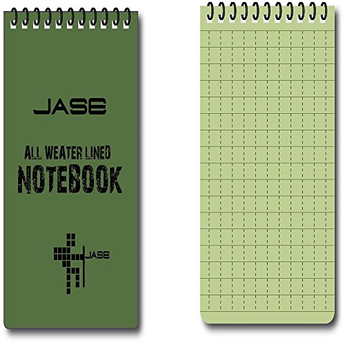 beenlenのセット5グリーン防水/ All Weather /シャワー/ Aqua notestepadtebook 10pcs