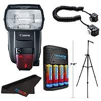 Canonスピードライト600ex ii-rtフラッシュfor Nikon +コンパクトバッテリー充電器& Accessoryバンドル