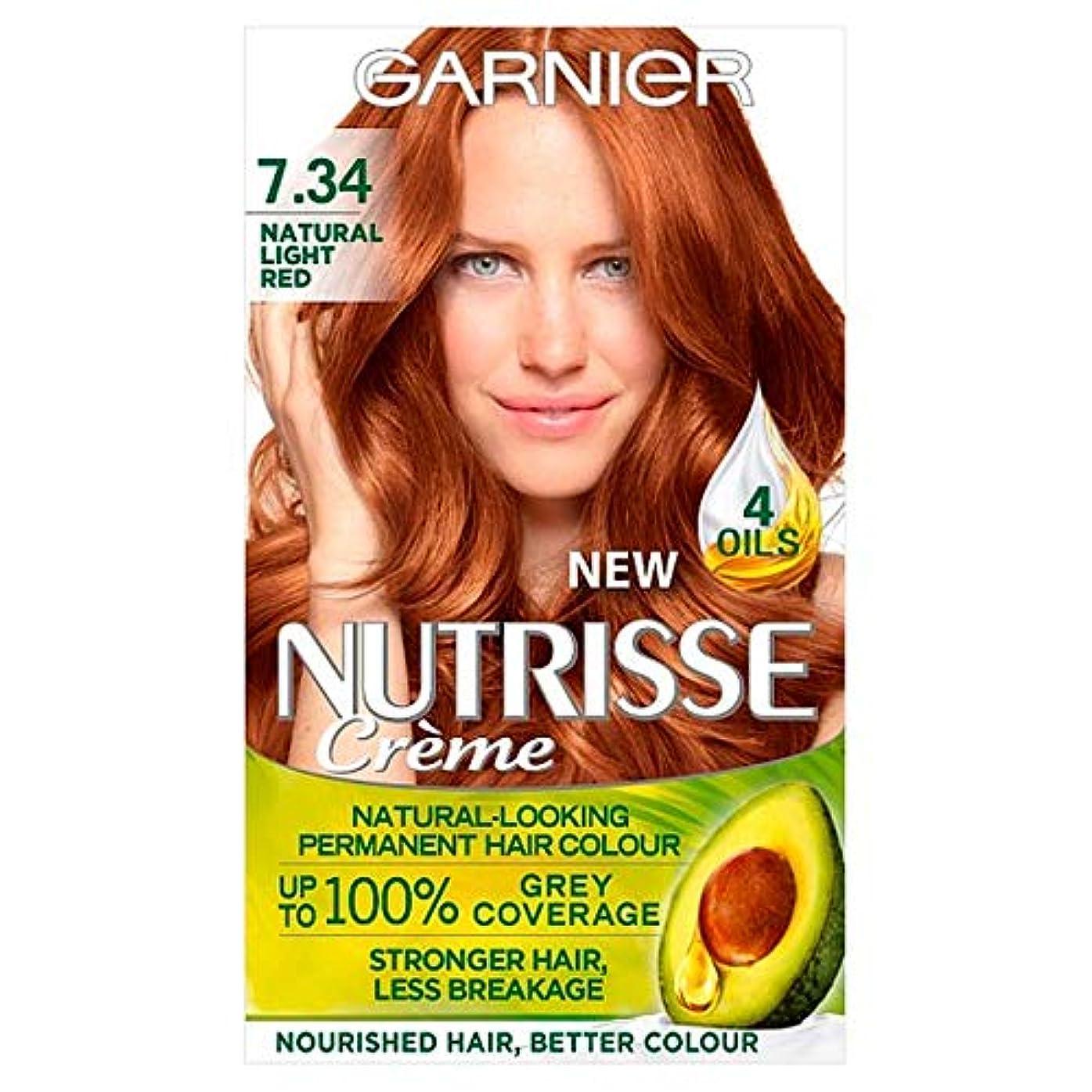 ペパーミント手綱悲劇[Garnier ] ガルニエNutrisse自然光赤永久染毛 - Garnier Nutrisse Natural Light Red Permanent Hairdye [並行輸入品]