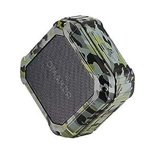 Omaker Bluetoothスピーカー (防水仕様) マイク搭載通話可能 12時間連続再生 NFC対応 丈夫なポータブルスピーカー(カムフラージュ)M5