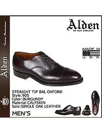 (オールデン) ALDEN ストレートチップ バル オックスフォード シューズ STRAIGHT TIP BAL OXFORD Dワイズ MADE IN USA レザー メンズ 905 バーガンディ (並行輸入品)