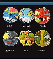jeykay Mad Hedz Crazy Brain 68MM 2x 2x 2キューブマジックパズルヘッドCartoonレッドイエローブルーブラックライトブルーオレンジChoice マルチカラー yxcube002all