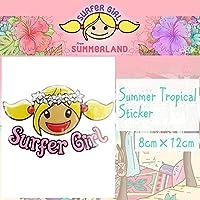 SURFeR GiRL(サーファーガール) Summer Tropical surfergirl Sticker サマートロピカル サーフィン ステッカー シール BALI