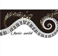Hanhantang 音楽ピアノラインスタジオ壁の装飾壁画ノートテーマ食事バーアートスクールダンス教室壁紙-280X200Cm