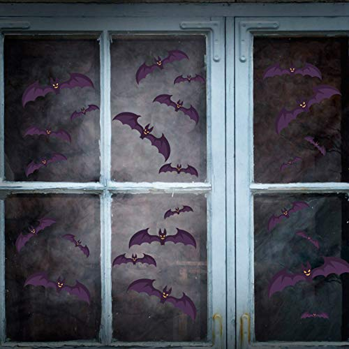 Halloween Bat Wall Decals Stickers Decor-180 Pcs Halloween Bats Window Clings Decoration for Home Party Decoration