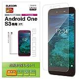エレコム android one S3 フィルム Ymobile 指紋防止 光沢 PM-AOS3FLFG