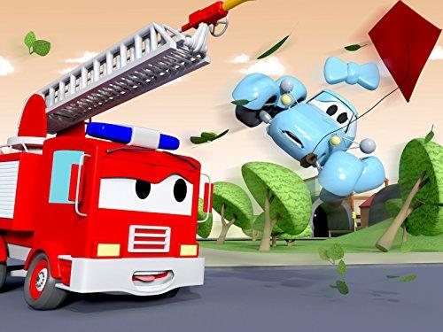 ギャリーのミラー盗難&ベビーケイティー空を飛ぶそして, 消防車とパトカーのカーパトロール|子供向けのカー&トラックアニメ