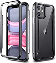 ESR iPhone 11 保護殼 混合保護殼 iPhone 11 保護套 [減震 360°無死角完全覆蓋] [附帶PET液晶保護膜] 6.1英寸 iPhone 11 專用智能手機殼(黑色)
