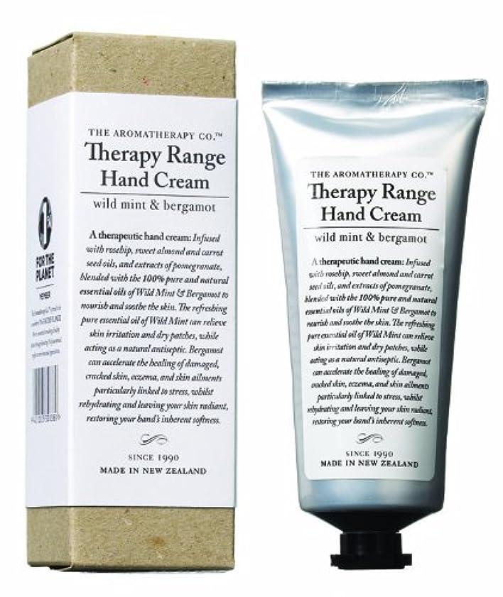 フリース不機嫌地域アロマセラピーカンパニー Therapy Range セラピーレンジ ナリシングハンドクリーム ワイルドミント&ベルガモット