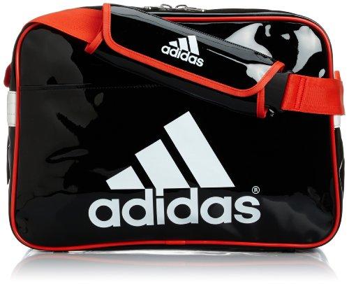 [アディダス] adidas メッセンジャーエナメルL WD153 F92208 (ブラック/ホワイト/ハイレス レッド F13)