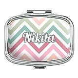 女性名 - ニキータ - 長方形ピルボックス