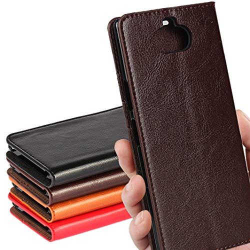 SONY Xperia 8 ケース SOV42 au/ワイモバイル/SIMフリー 対応 手帳型 エクスぺリア 8 カバー xperia8 ケース ソニー エクスぺリア8 手帳 スマホケース case iCoverCase シンプル レトロ スタンド機能 手作り 加工 牛革 スマホケース 財布型 携帯カバー カード入れ 耐久性 摩擦耐性 選べる4色 ダークブラウン