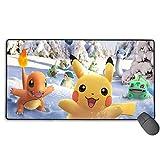 Pokemon Go マウスパッド 大型 おしゃれ マウスパッド ゲーム向けゲーミング 疲労低減 レーザー 光学式マウス対応パッド 滑り止めゴム底 耐洗い表面 耐久 持ち運び