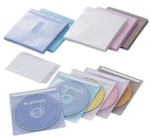 ELECOM CCD-016L5C 不織布CD/DVDケース(両面収納)