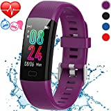 Inspiratek Kids Fitness Tracker for Girls and Boys Age 5-16 (4 Color Option)- Waterproof Fitness Watch for Kids with Heart Rate Monitor, Sleep Monitor, Calorie Counter and More - Kids Activity Tracker