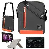"""スリングスリムキャリーバッグfor Dragon Touchタブレットx10、y88X、ax1、m7、mx10、e71、e70、e97、i10X、7"""" Quad Core + Bluetoothキーボード+スタンド オレンジ NBK8903984954555"""