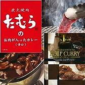 大阪のマルビルにあるホテルのカレーとたむらけんじの焼き肉屋のカレーおかわり版(辛口)各1食