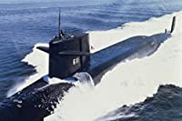 米国海軍攻撃潜水艦at Seaフォトアートプリントポスター18x 12