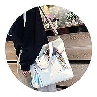 バッグ女性2018新しい怠惰な風キャンバスバッグ,ベージュ