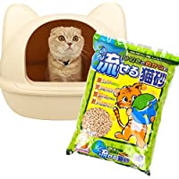 ヒノキ 地球に優しい ひのきとおからの流せる猫砂 8L 猫 猫砂