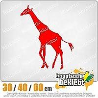 KIWISTAR - Giraffe silhouette 15色 - ネオン+クロム! ステッカービニールオートバイ