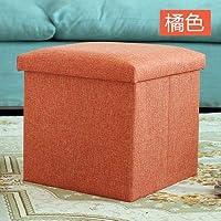 収納ベンチのベンチは人のソファに座って布を折り畳むことができます。 (グレー灰色) [並行輸入品]