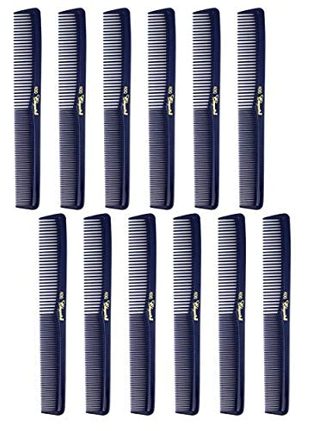 7 inch All Purpose Hair Comb. Hair Cutting Combs. Barber's & Hairstylist Combs. Dark Blue. 12 Units. [並行輸入品]