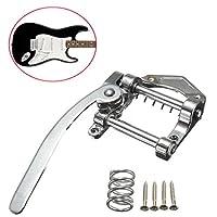 ギタービブラート ギタートレモロ エレキギター ギタービブラートブリッジ 亜鉛合金 シルバー