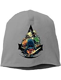 【Dera Princess】ユニセックス ニット帽 Unite Assassinsロゴ コットン ニットキャップ 帽子 オールシーズン 被れる