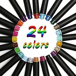 ファインライナー 24色セット 細書きペン トリプラス 線幅0.4mm 子供、学生、アーティスト