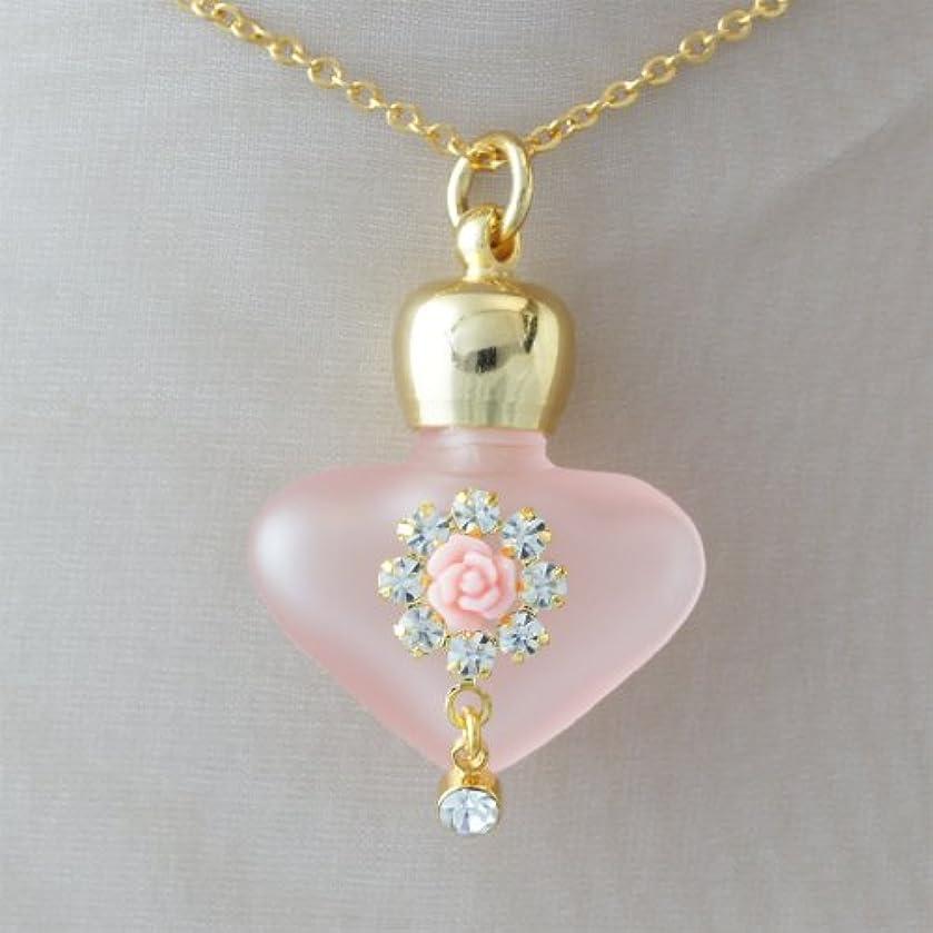 財産札入れ連続した【天使の小瓶】 ハートフラワー (ピンク)