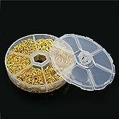 アクセサリー パーツ 丸カン 徳用 たっぷり 約1500個入 4mm/5mm/6mm/7mm/8mm/10mm 手芸 クラフト (ゴールド)