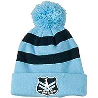 Canterbury Men's NSW Soo Stripe Pompom Beanie, Light Blue, One Size
