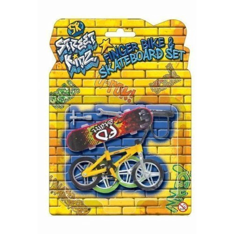 ダイカストプラスチック製おもちゃセットフィンガーバイク&ボードスケートボードスケートダイカストアクセサリーセット