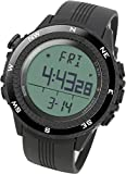 LAD WEATHER lad004bkno-eu - 男性用腕時計、ブラックポリウレタンストラップ