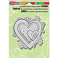 "Stampendous Cling Rubber Stamp 5.5""X4.5"" Sheet-Penpattern Heart (並行輸入品)"