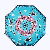 折りたたみ傘 レディース傘 おりたたみ傘 210T 晴雨兼用 丈夫 撥水 耐風 紫外線遮蔽率100% UVAカット通勤 通学 収納ケース付き 女の子 男児 男女兼用