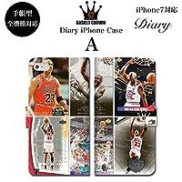 BRAVE CROWN t005 iPhone XS Max XR X 8 7 6s 6 plus プラス SE 5s 5 手帳型 スマホ ケース Xperia Galaxy 全機種対応 ダイアリー ブランド グッズ バスケットボール NBA マイケル ジョーダン JORDAN Air 23 エアー BULLS シカゴ ブルズ ロゴ エンブレム