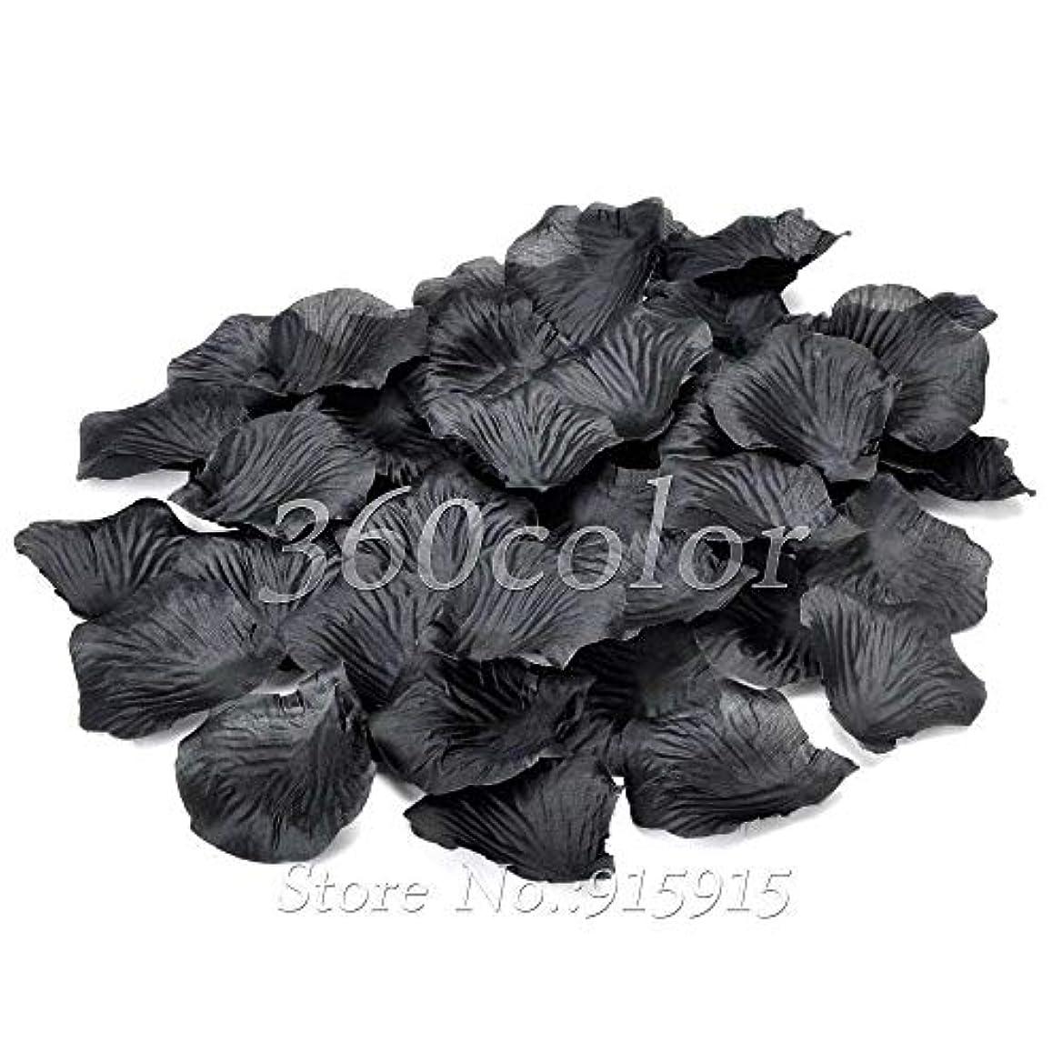 残酷宙返りラリーAnnacboy 100pcsシルクバラの花びら表紙吹雪造花のベビーシャワーの工芸ウェディングパーティーイベントデコレーション用品結婚 (Color : Black)