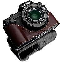 GARIZ Canon PowerShot G1 X Mark III 用 本革カメラケース XS-G1XM3BR ブラウン