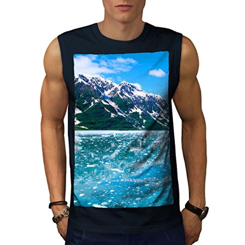 Wellcoda 山岳 野生 自然 男性用 S-5XL 袖なしTシャツ