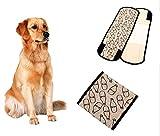【Momugs Akira】ドッグウェア 犬用生理パンツ しつけ用品 中大型犬向け ペット生理服 安心マナーバンド 雄犬生理用品 ミルク瓶仕様 コットン 通気性良い 可愛い ライトグレー
