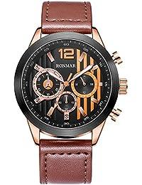 腕時計 メンズ腕時計 スポーツウォッチ 男の子 クオーツ ウォッチ 人気時計 30M防水 多機能 日本製部件 クロノグラフ 夜光インデックス 取扱説明書(ブラウン)