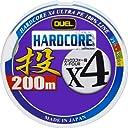 デュエル(DUEL) PEライン ハードコア X4 投げ 200m 0.8号 25m4色 12.5m毎 黒マーキング H3288
