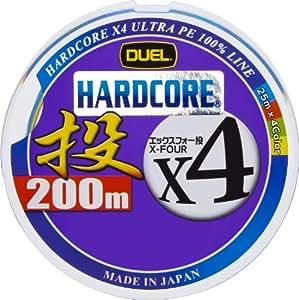 デュエル(DUEL) ライン HARDCORE X4 投げ 200m 2.0号