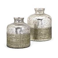 Imax 13859-2ザアラオンブル花瓶(2個セット)、グレー
